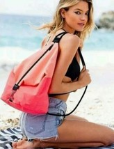 NWT Victoria's Secret Limited Sling Backpack Beach Tote Bag Pink Coral $85 - $49.49
