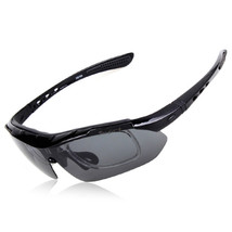 XQ-100 Polarized Sunglasses Changeable Riding Sports   black - $20.99