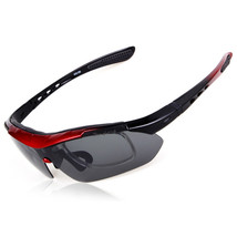 XQ-100 Polarized Sunglasses Changeable Riding Sports    red - $20.99