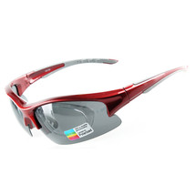 158 Chromatic Sunglasses Sports Riding Polarized Glasses    red - $20.99