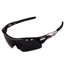 XQ-182 Glasses Suit Riding Fishing Polarized Sunglasses     black bright color - $25.99