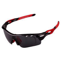 XQ-182 Glasses Suit Riding Fishing Polarized Sunglasses     black bright red - $25.99