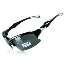 xq129 Polarized Glasses Riding Sports Glasses    black bright white - $15.99