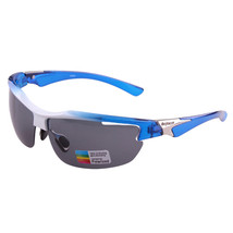 XQ-339 Outdoor Sports Riding Polarized Glasses    white with blue - $16.99