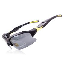 xq129 Polarized Glasses Riding Sports Glasses    black yarn yellow - $15.99