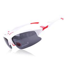 xq129 Polarized Glasses Riding Sports Glasses    bright white red - $15.99