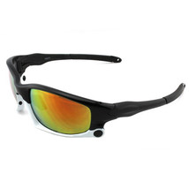 073 Sunglasses Polarized Glasses Outdoor Sports Riding    upper black down white - $15.99