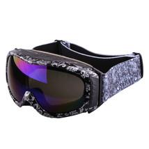 XA-031 Water-print Sports Glasses Anti-frog Ski Goggies    black silver - $40.99
