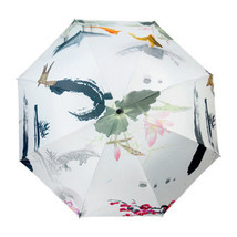 Ink and Wash Vinyl Sunscreen Umbrella    moonlight in lotus pool - $18.99