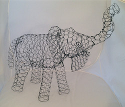 Realistic Small Elephant Topiary Frame - $100.00