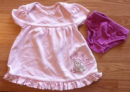 Girl's Size 3-6 M Months Two Piece Pink Carter's Floral Love Bear Dress & DC Set - $14.00