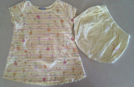 """NWOT Girl's Size 6 M 3-6 Months 2 Piece Carter's Set Yellow """"Bee Happy"""" ... - $14.00"""