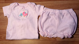 Girl's Size 9 M 6-9 Months Two Piece Pink Birdies Carter's Top & Bloomer... - $14.00