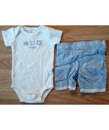 "Girl's Size 3M 0-3 Months 2 Piece White Carter's ""Sweetheart"" Top, Eyele... - $14.00"