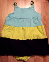 NWT Girl's Size 18 M 12-18 Months Blue/ Green Striped The Children's Place Dress - $15.50