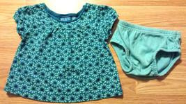 Girl's Sz 6-9 M Month 2 Pc Blue Floral Children's Place Dress/ Top & Carter's DC - $15.50