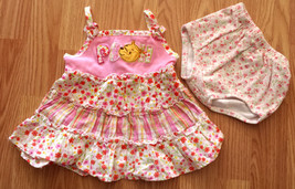Girl's Size 6-9 M Months Two Piece Pink Plaid Disney Baby Winnie Pooh Dr... - $14.00