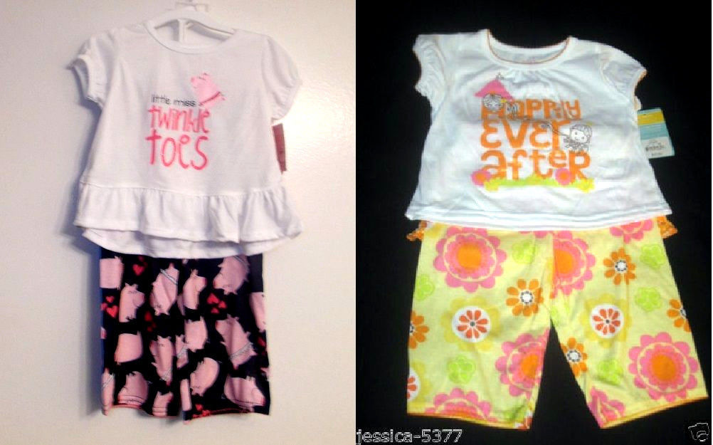5d6bce3e6d Just One You By Carters Toddler Girls 3 Pc Pajama Set 3 Choices Sizes 2T NWT