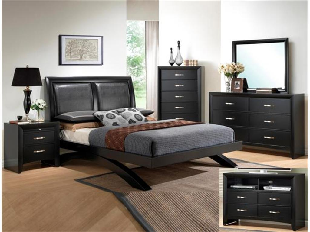 Crown Mark RB4380 Galinda King Bedroom Set 2 Night Stands Transitional Style