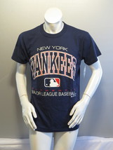 New York Yankees Shirt (VTG) - Type Set Script by Russell Athletic - Men... - $55.00