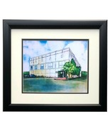 The Office Pam Beasley Dunder Mifflin Watercolor Painting 11x14 Print - $128.69