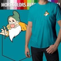 Bashful in a Pocket Snow White 7 Dwarf Disney Cute Fun Mens Unisex Tee T-Shirt - $18.00