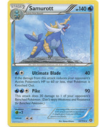 Samurott 32/114 Rare XY Steam Siege Pokemon Card - $0.69