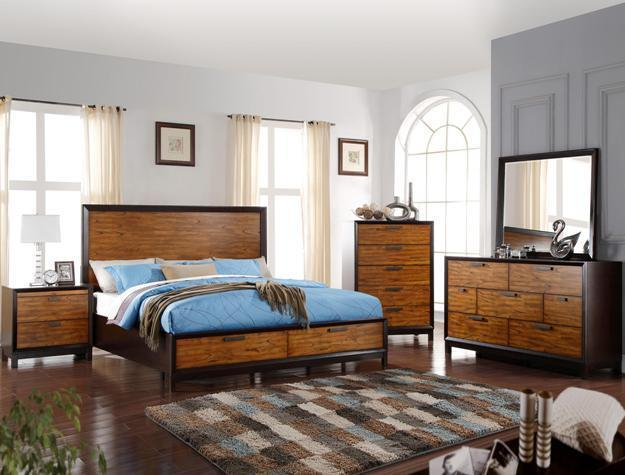 Crown Mark RB1800 Mumford King Storage Bedroom Set 5pc. Contemporary Style