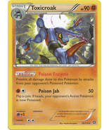 Toxicroak 59/114 Rare XY Steam Siege Pokemon Card - $0.89