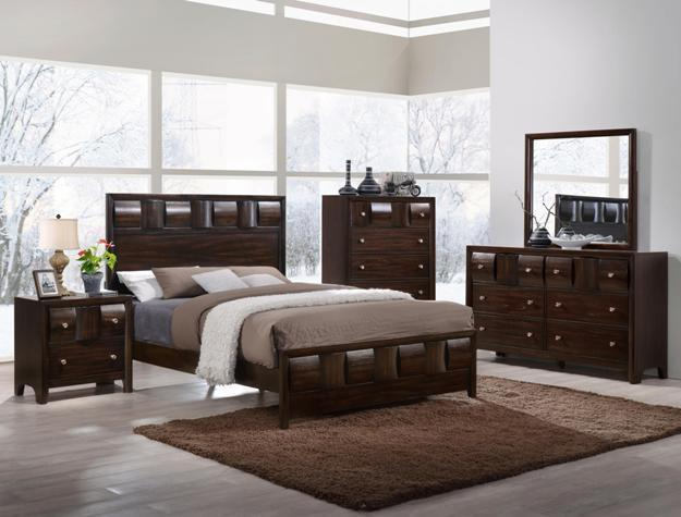 Crown Mark RB6800 Delrey King Size Bedroom Set 2 Night Stands Contemporary Style