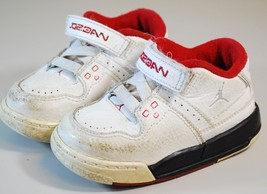 NIKE AIR JORDAN SNEAKERS SHOES KIDS BOYS SIZE 6C -  WHITE LEATHER STYLE ... - $39.59