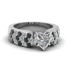 2.00 CT Round Cut Black & White CZ Expensive Engagement Ring 14K White Gold Fn - $169.99