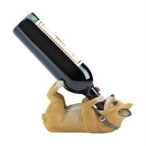 Playful Brown Chihuahua Pup Polyresin Countertop Wine Bottle Holder Acce... - $20.68