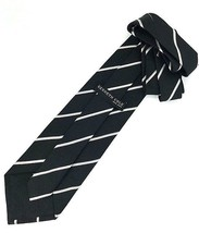 New Kenneth Cole New York Silk Tie Black & Silver Men's Neck Tie Designer - $13.95