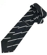 New KENNETH COLE New York SILK TIE Black & Silver Men's Neck Tie Designer - $13.95