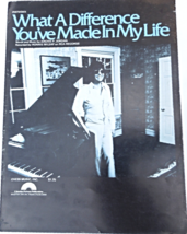 """1977 Vtg Sheet Music""""What A Difference You've Made in My Life""""Ronnie Mil... - $7.99"""