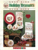 Dimensions HOLIDAY TREASURES Book 5 for Counted Cross Stitch Stockings & More - $5.93