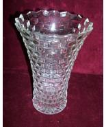 "Fostoria American CLEAR  flared vase   7.5"" STA... - $17.99"