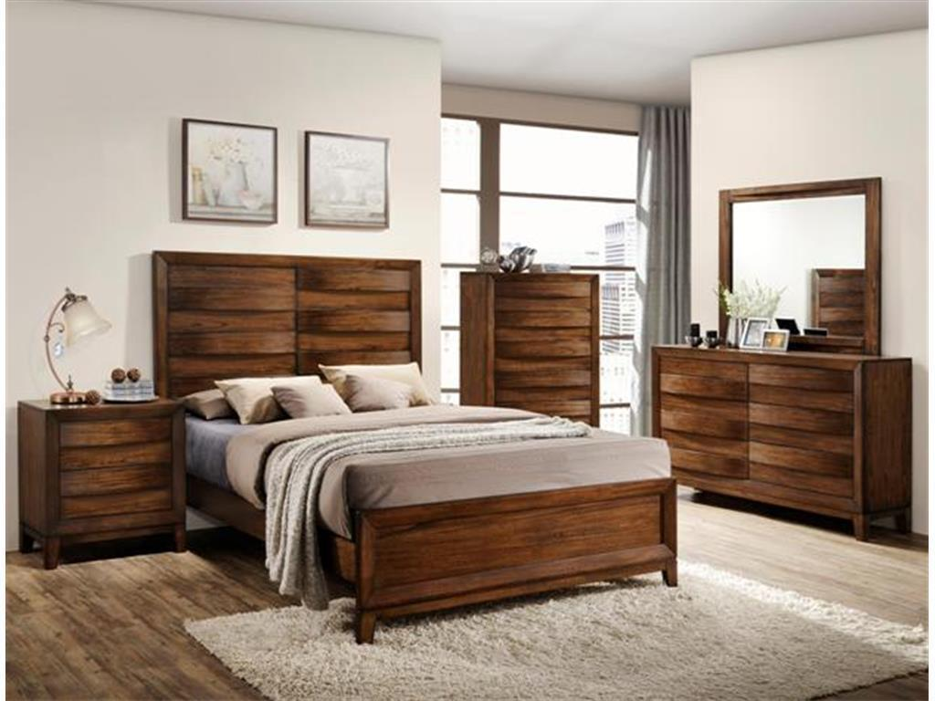 Crown Mark RB6900 Kelton Queen Size Bedroom Set 5pc. Transitional Style