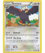Braviary 93/114 Uncommon XY Steam Siege Pokemon Card - $0.69