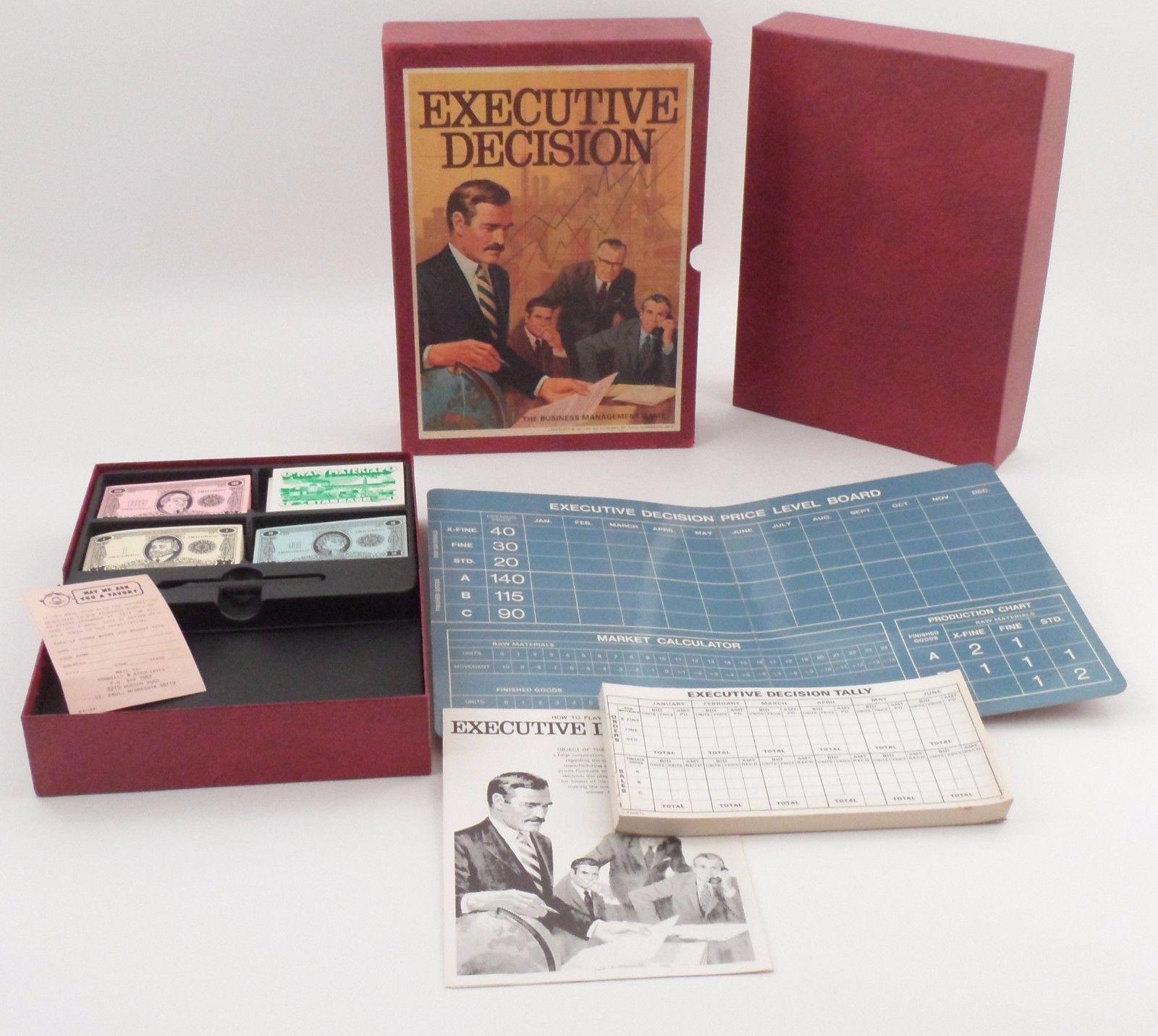 MIB Unplayed 1971 3M Bookshelf Game - Executive Decision Big Business Management - $22.23