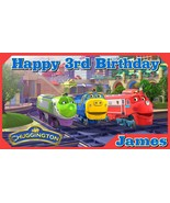 Chuggington Personalized Custom Vinyl Birthday Banner Party Decoration -... - $34.95