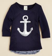 Lily Bleu Girls' Anchor Top, Navy, Size 4 - $18.69