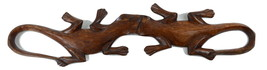 WW9064 HANDCRAFTED WOODEN BALINESE KISSING GECK... - $22.99