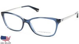 New Emporio Armani EA3026 5072 Transparent Blue Eyeglasses Frame 52-15-140 B36mm - $89.09