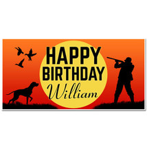 Personalized Hunting Birthday Banner Party Backdrop - $22.50