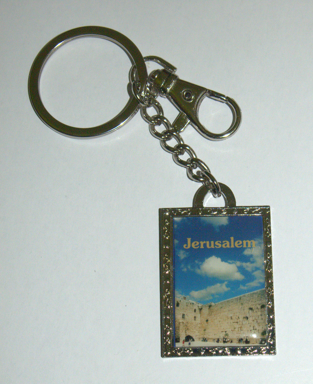 Judaica Keyring Keychain Key Holder Traveler Prayer The Kotel Wailing Wall