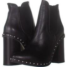 Wild Diva Susie-101 Peep Toe Studded Open Back Boots 913, Chestnut, 6.5 US - $31.67