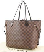 Authentic LOUIS VUITTON Neverfull MM Damier Ebene Tote Bag Purse #32837 - $895.00
