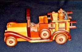 Toy Car Handmade Collectible AB 655 Vintage Wooden